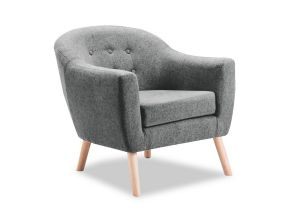 Perig Accent Chair - light grey - 1