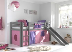 Pino Grey Mid-sleeper Bella Curtain - With Slide - Room