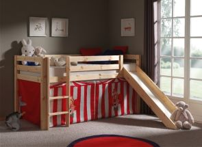 Pino Natural Mid-Sleeper Chucky Clown Curtain W/Slide Room