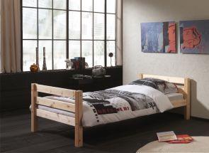 Pino Single Natural Wood Bed Room