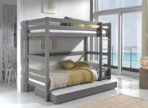 Pino Grey Bunk With Under Bed Trundle
