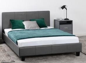 Prado Grey Faux Leather Bedroom