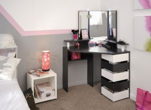 Volage Beauty Bar-Black & White-Without Stool
