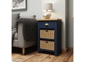 RA Blue Two Basket Storage Unit - room