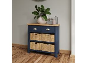 RA Blue Four Basket Storage Unit - roomset