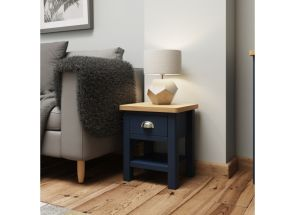 RA Blue End Table - roomset