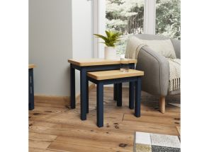 RA Blue Nest OF Two Tables - room
