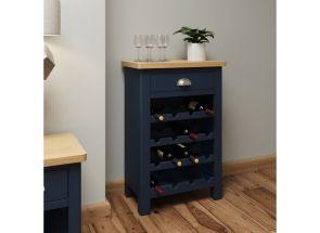 RA Blue Wine Rack - roomset