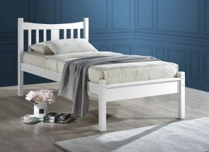 Robson 3 ft White Bed