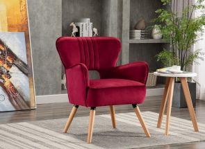Ruby Viola Crimson Chair - 1