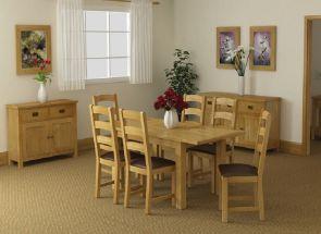 Salisbury Oak Ext. Dining Set