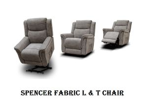 Spencer Grey Fabric L & T Chair