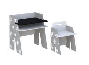 Star Grey Desk & Chair - 1