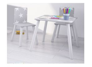 Star Grey Table & Chairs - 1
