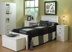 Tara White Bedroom