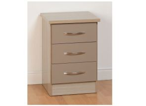 Nevada Oyster 3 Drw Bedside