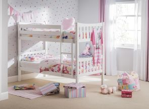 White Zodiac Bunk Bed Room